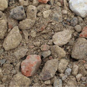 6F4 Recycled Aggregate, also known as crusher run, recycled hardcore, CBT or brick rubble